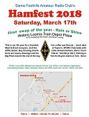 https://ares387.wordpress.com/2018/02/13/sierra-foothills-ham-fest/ Pick up some new toys or important pieces for your kits!